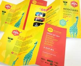 koopski programme flyer ticket mosaiques festival raphael panerai graphiste freelance paris
