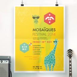 koopski poster mosaïques festival raphael panerai affiche flyer