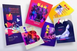 Programme et flyers, Bam Festival, raphael panerai
