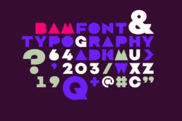 BAM festival custom font design koopski raphael panerai